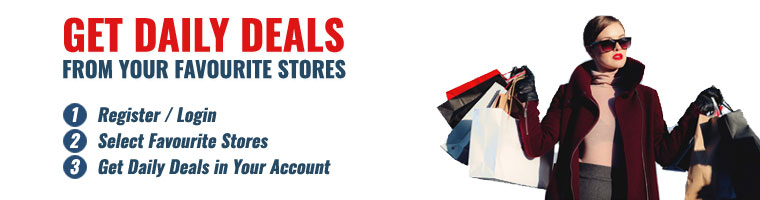 Get Daily Deals from Your Favourite Stores
